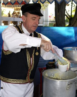 Man preparing  Wendish noodles at the San Antonio Folklife Festival